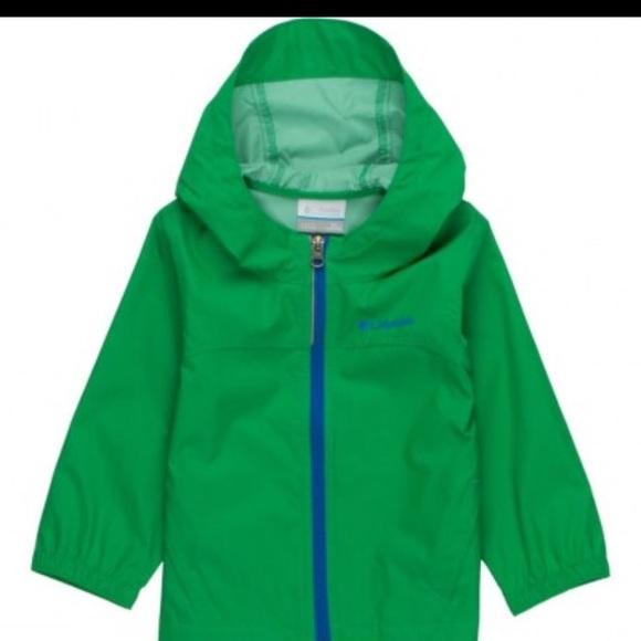 Kelly green rain jacket