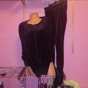 Juicy Couture Black Sparkles Set XL /L NWOT