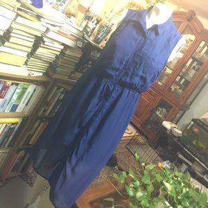 Sleeveless Buttoned Down Dress