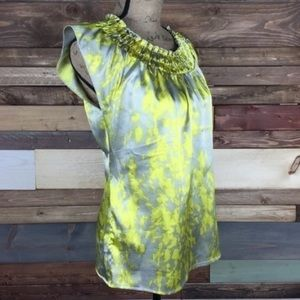 The Limited Yellow + Nude Metallic Blouse, XL
