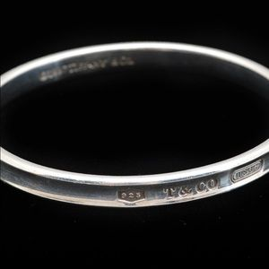 Authentic Tiffany Sterling Silver 1837 bangle