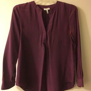 Joie wine silk blouse - XS