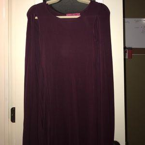 Boohoo cape dress