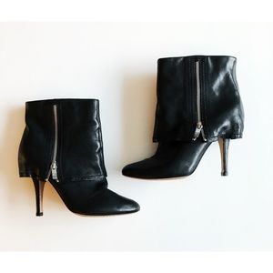 Vince Camuto Black Zippered heeled Booties 9B/39