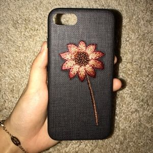 Iphone 7 embroidered sun flower phone case