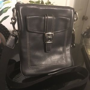 🚨 Auth COACH Crossbody Leather Purse Handbag
