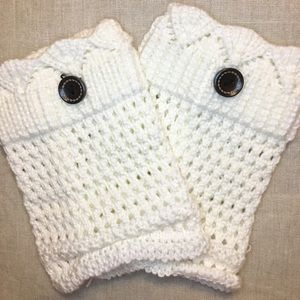 Accessories - Boot Cuffs. Creamy White