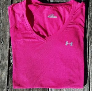 Under Armour pink athletic T-shirt