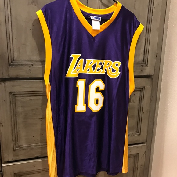 new product 40fbd 11939 Pau Gasol Lakers Jersey