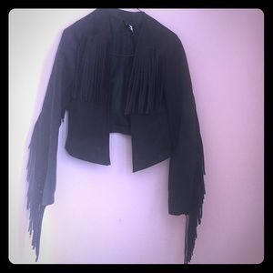 H&M fringe blazer