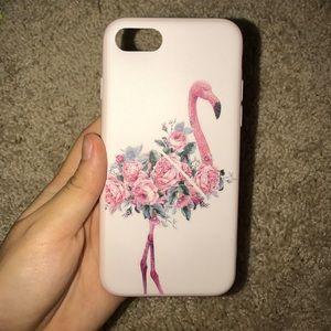 Iphone 7 flamingo phone case