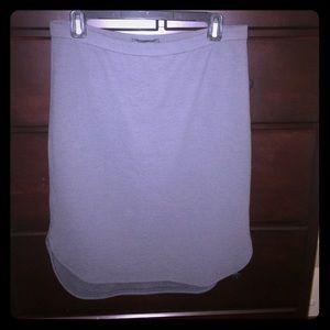 Grey Banana Republic pencil skirt w elastic waist