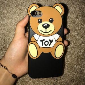 Iphone 7 teddy bear phone case