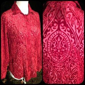 Gorgeous velvet burnout shirt