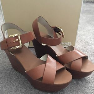 7c0a99633db0 MICHAEL Michael Kors Shoes - MICHAEL Michael Kors Peggy Platform Wedge  Sandal