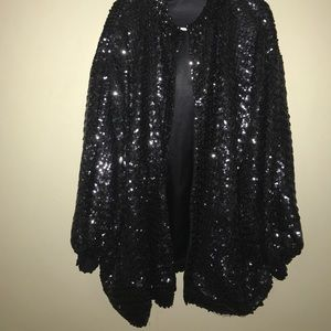 Black vintage sequin jacket.