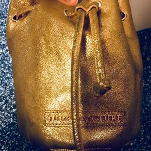 Juicy Couture Gold Leather Crossbody bag