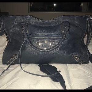 Balenciaga metallic edge city handbag