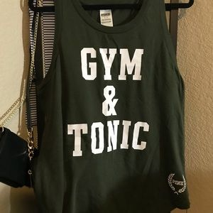 "VS PINK ""GYM& TONIC"" GYM TANK"