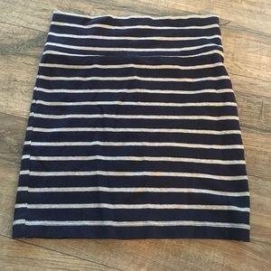 Striped Jersey Mini Skirt