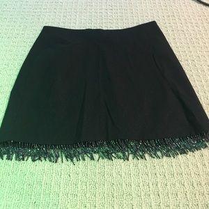 Beaded fringe Bebe mini skirt