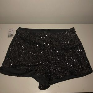 Forever 21 Sequin Knit Shorts in Gunmetal Grey NWT