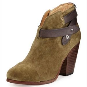 Rag & Bone Suede Harrow Ankle Boots, 38