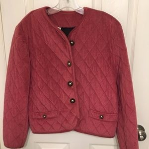 Spain Women's Pink Quilted Blazer Size Med
