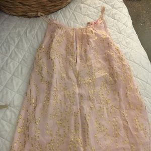 Pink and gold Lilly Pulitzer sleeveless top