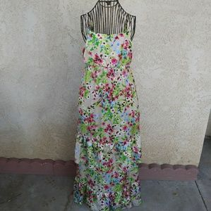 Old Navy Floral Ruffle Maxi Dress