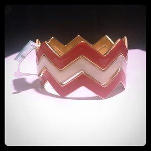 Red and White Chevron Design Bracelet - NWT