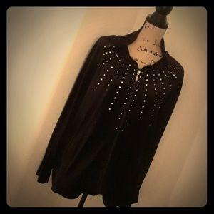 Black velvet jogging suit