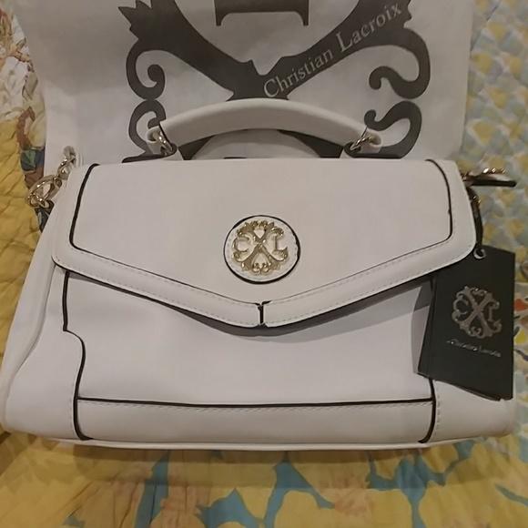 56929f91f Christian Lacroix Bags | White Purse | Poshmark