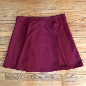 Forever 21 | Maroon Circle Skirt
