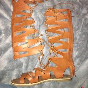 Strappy sandals! Never worn
