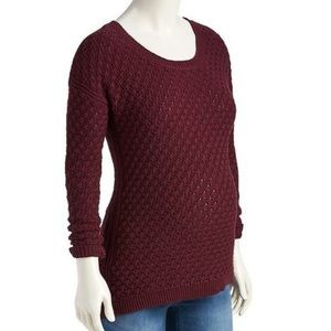 Old Navy Maternity Maroon Popcorn Knit Sweater XL