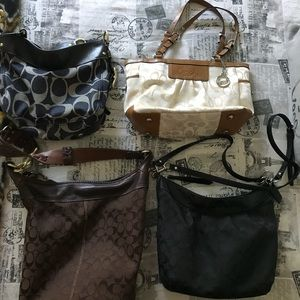 4 authentic Coach bags. Purchased from Coach store
