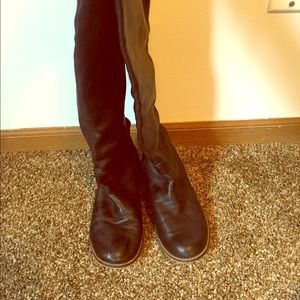 Nordstrom BP all leather over the knee boots