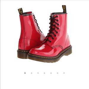 Dr marten patent cherry red
