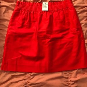 J. Crew Red Skirt NWT Size 8