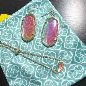 🔥NWOT🔥 Kendra Scott Dichroic Glass Elaina Lux