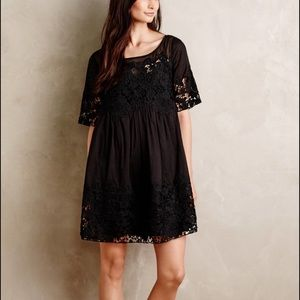 NWT!! Anthropologie Black Magnolia Lace Dress