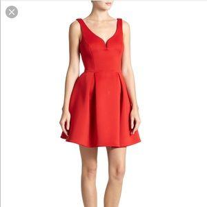 Ali Ro red scuba dress