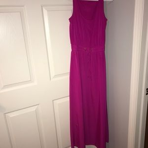 Ivanka Trump floor length dress. Magenta. Size 4