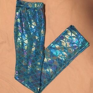 Holographic Mermaid fish leggings/tights