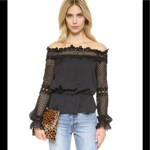 Style Mafia Lace Off Shoulder Ejerz Top