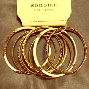 Never used - Cream and Gold Bangles