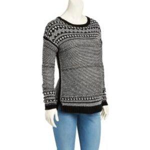Old Navy Maternity BlackJacquard Knit Sweater