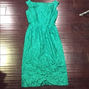 Dresses & Skirts - Vintage mad men esque style dress green floral S/6