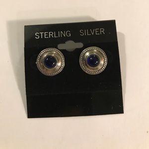 Sterling silver blue earrings